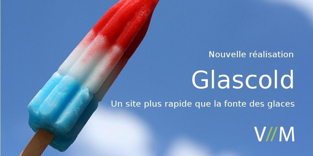 Glascold, un site qui se charge avant que la glace fonde